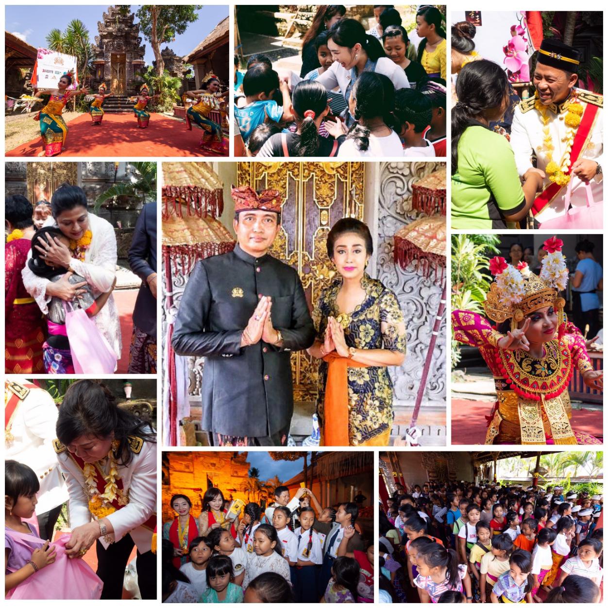 印尼巴厘岛皇室Puri Ageng Blahbatuh举办巴厘岛慈善典礼