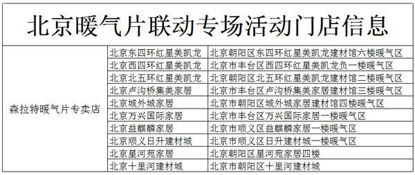 森拉特北京暖气片专场活动助力采暖装修