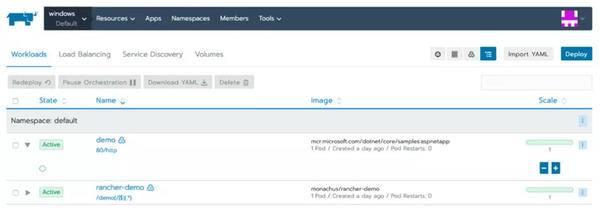 Rancher 2.3发布:首个GA支持Windows容器,正式集成Istio