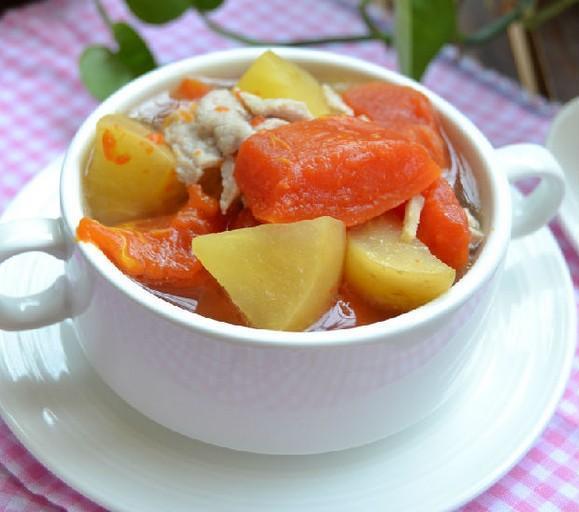 胃口差喝番薯木瓜苹果汤