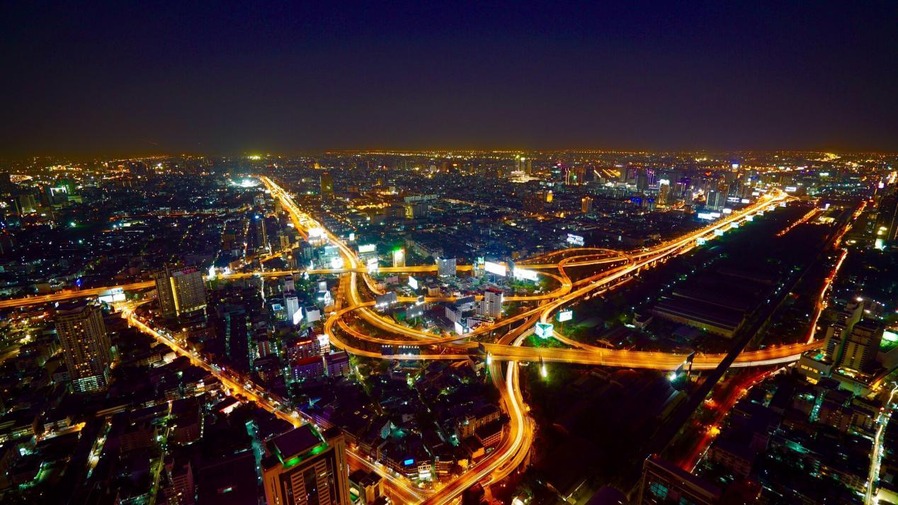 空气 曼谷 城市 夜 交通 亚洲