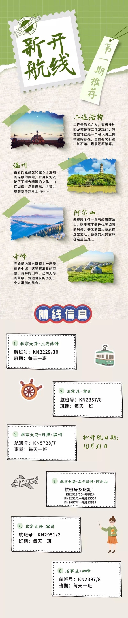 中国联合航空2021/22冬春航线抢先看,新增6条新航线满足季节性市场需要